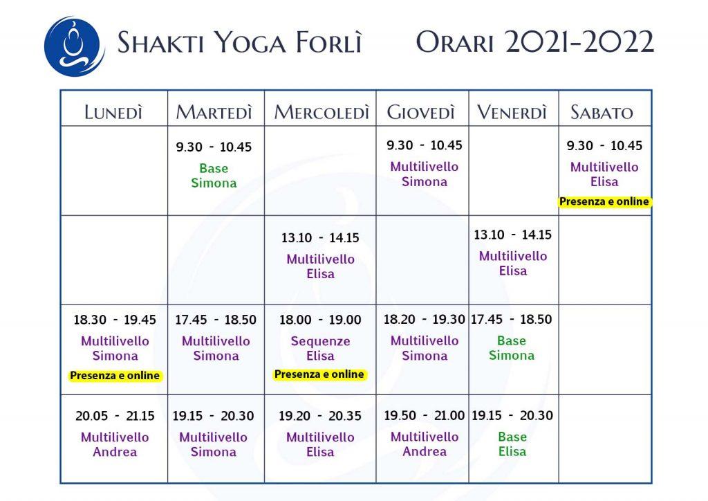yoga forli orari shakti